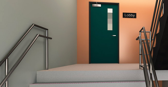 Stairwell Door & Stairwell Doors Temperature Rise Fire Doors - Door Systems