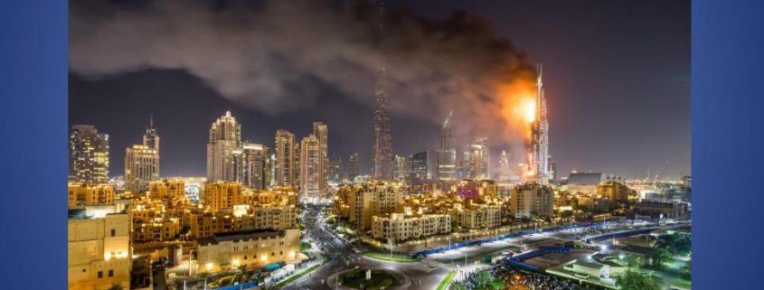 Dubai high rise catches fire again