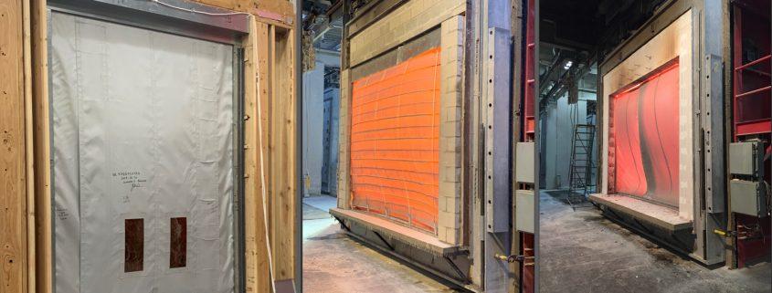 Smoke Curtain Burn Test