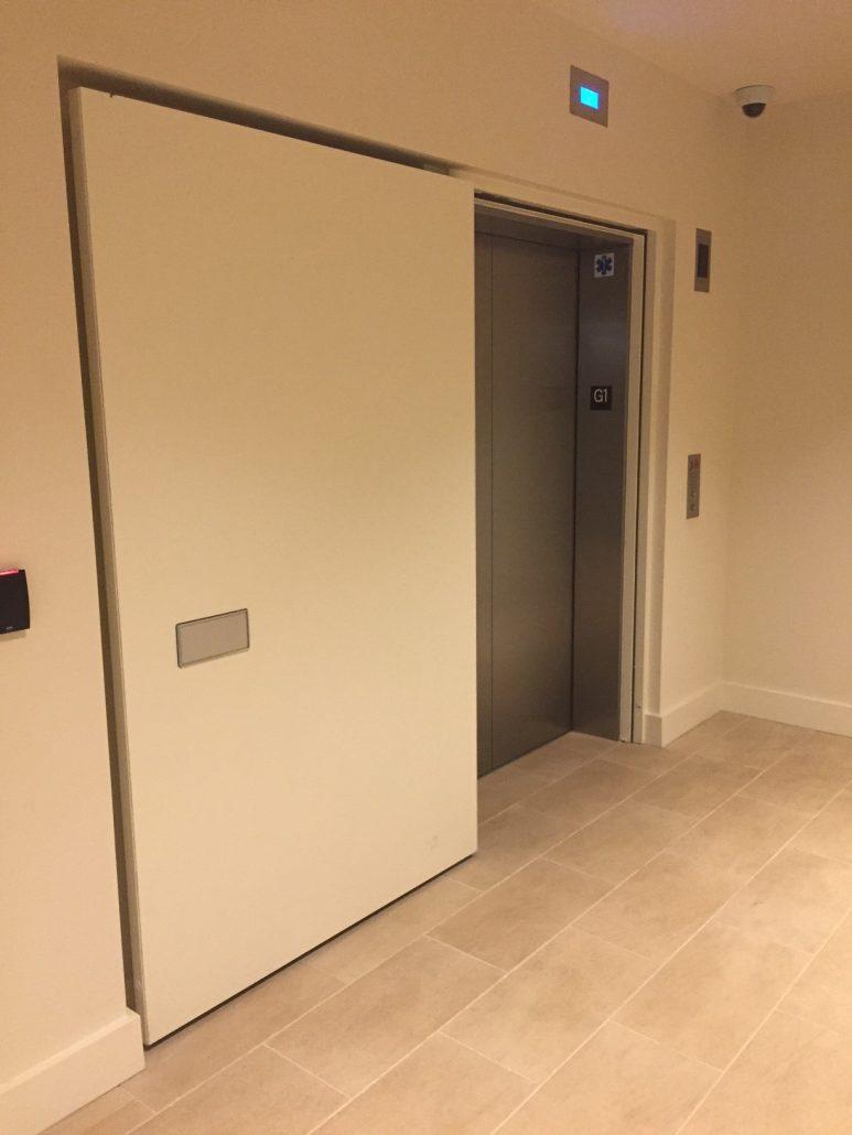Fused Metal Elevator Doors | Architectural | Forms+Surfaces |Elevator Fire Door