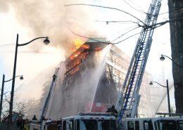 under construction building fire